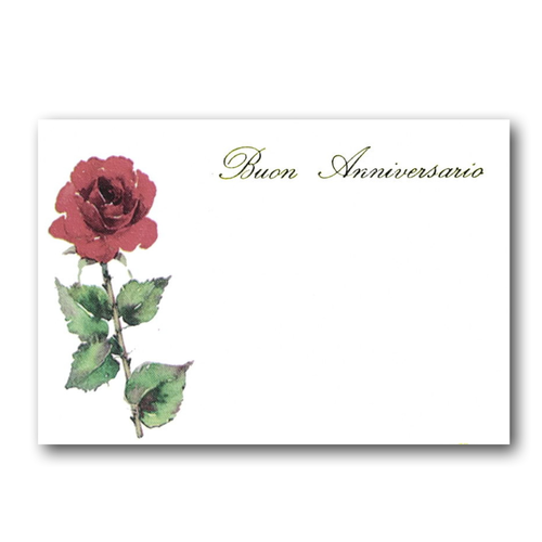 MINI CARD ROSA ROSSA B.ANNIV. (100)