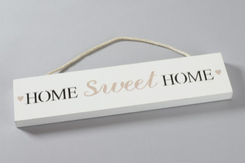 INSEGNA `HOME SWEET HOME` C/LUCE 35X8CM