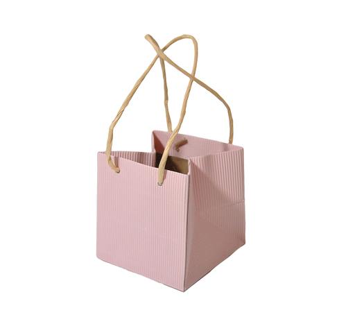 BORSA IN CARTA C/PL.(12) 105X10X105MM FUXIA