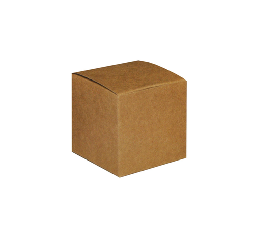 SCATOLA CUBO CARTA 60X60X60MM (10) AVANA