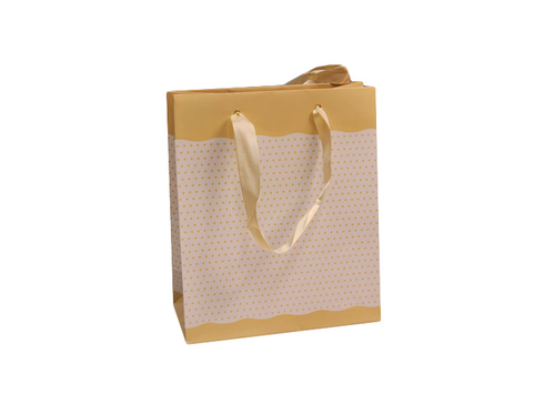 SHOPPER DOTS 22X29+10 (12) CREMA
